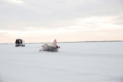 IInfor Rocket on Bonneville salt flat