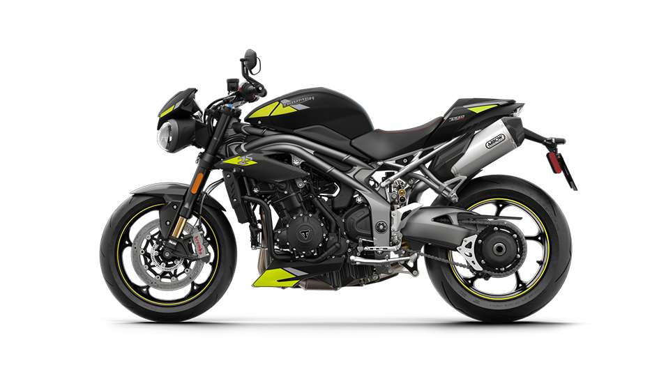 Speed Triple RS in Matt Jet Black with all-new decals