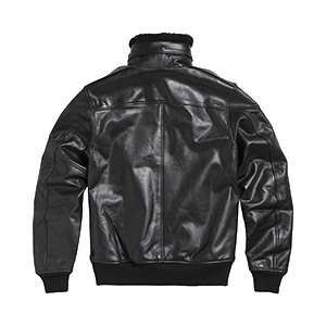 Bexton Leather Flight Jacket Black