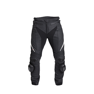 Triple Black Leather Motorcycle Jeans