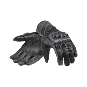 Pitsford Perforated Leather Gloves Black