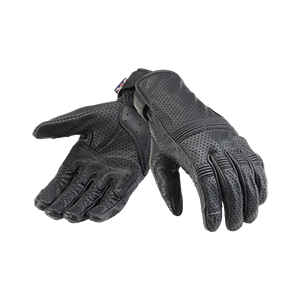 Cali Perforated Leather Motorcycle Glove Black