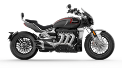 CGI cut out of Silver Ice and Storm Grey Triumph Rocket GT