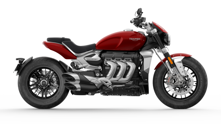 CGI cut out of Korosi Red Triumph Rocket R