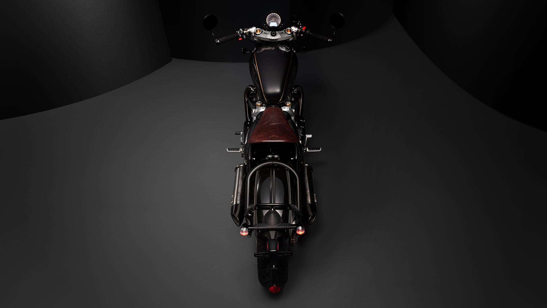 Rear shot of the Triumph Bobber TFC