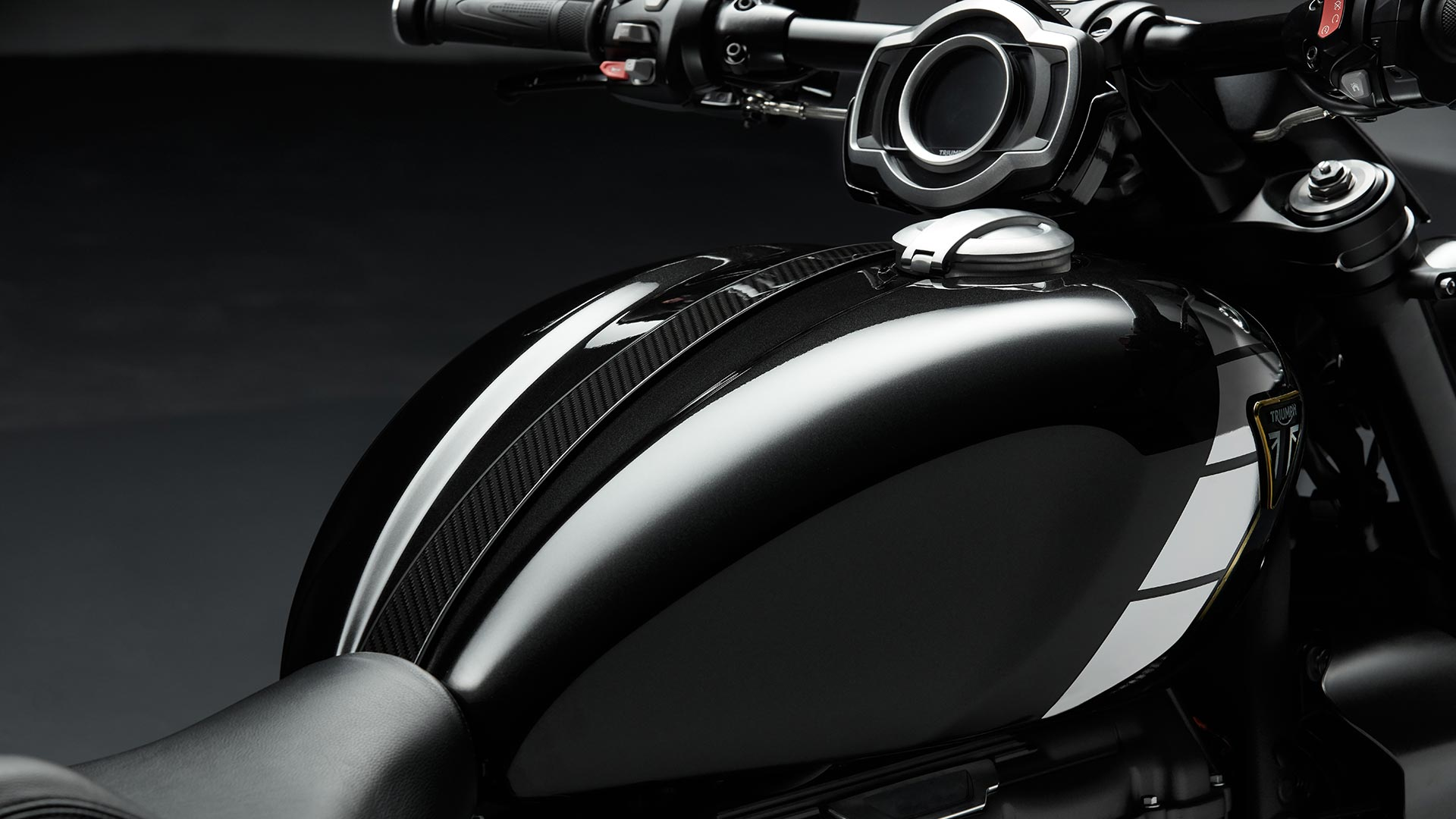Triumph Rocket 3 TFC fuel tank with premium paint finish